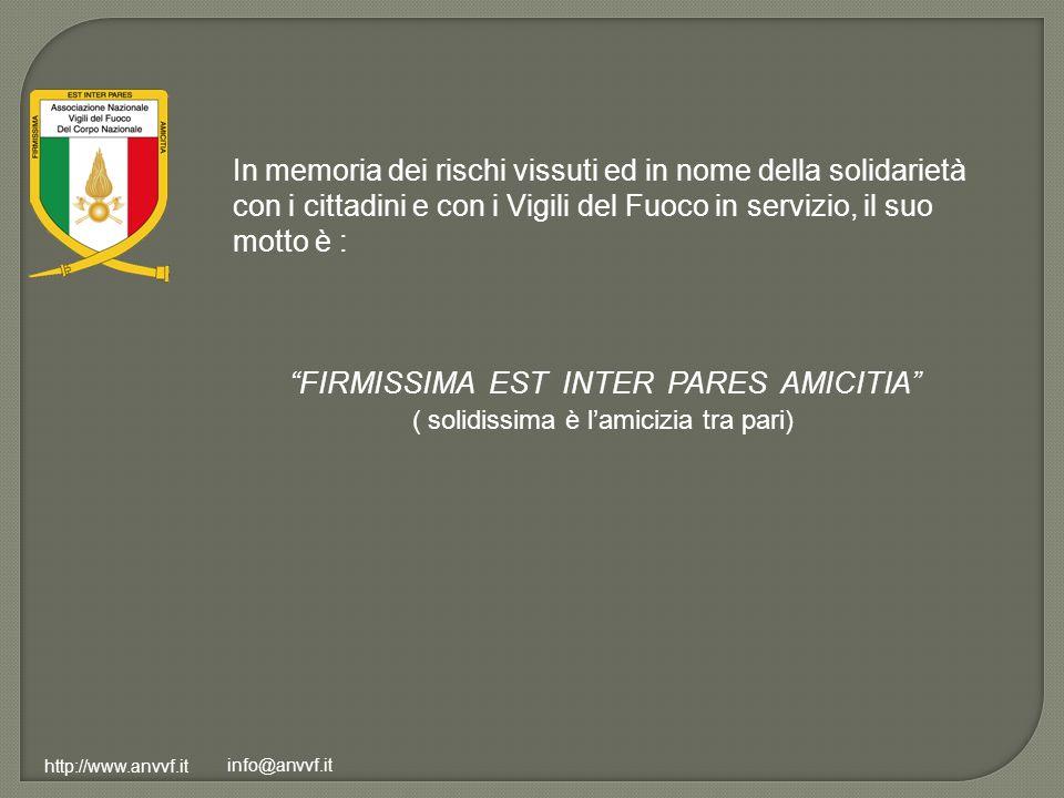 FIRMISSIMA EST INTER PARES AMICITIA