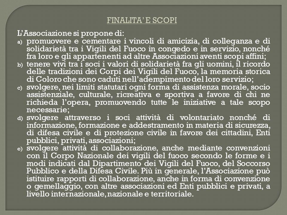 FINALITA' E SCOPIL'Associazione si propone di: