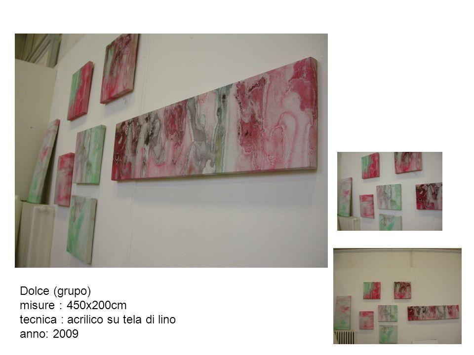 Dolce (grupo) misure:450x200cm tecnica : acrilico su tela di lino anno: 2009