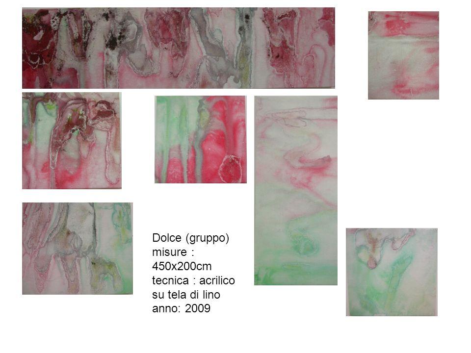 Dolce (gruppo) misure:450x200cm tecnica : acrilico su tela di lino anno: 2009