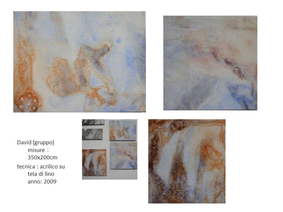 David (gruppo) misure:350x200cm tecnica : acrilico su tela di lino anno: 2009