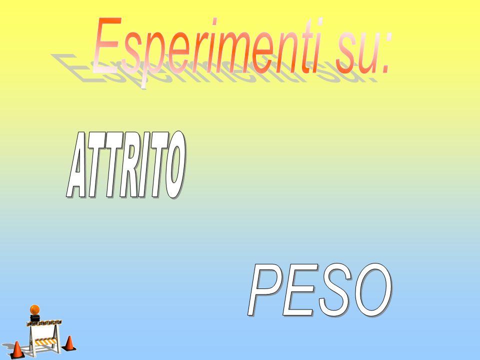 Esperimenti su: ATTRITO PESO