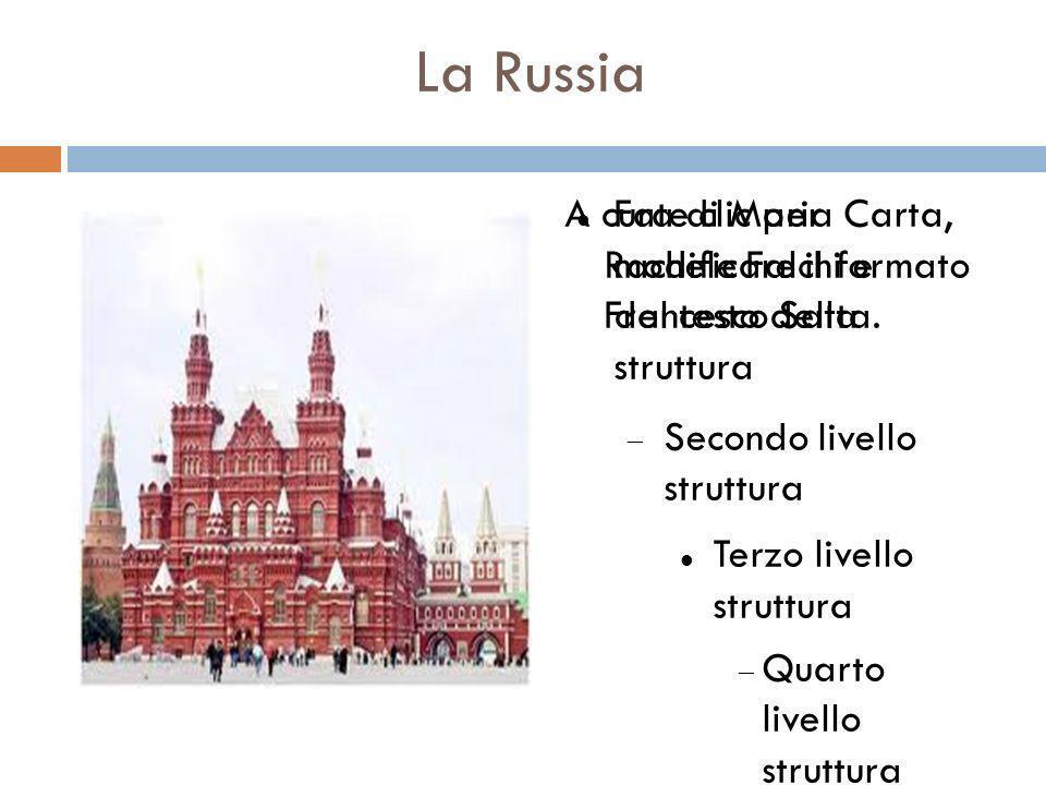1 La Russia A cura di Maria Carta, Rachele Falchi e Francesco Satta.