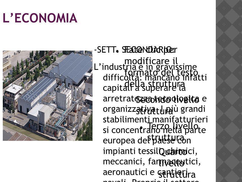 L'ECONOMIA -SETT. SECONDARIO: