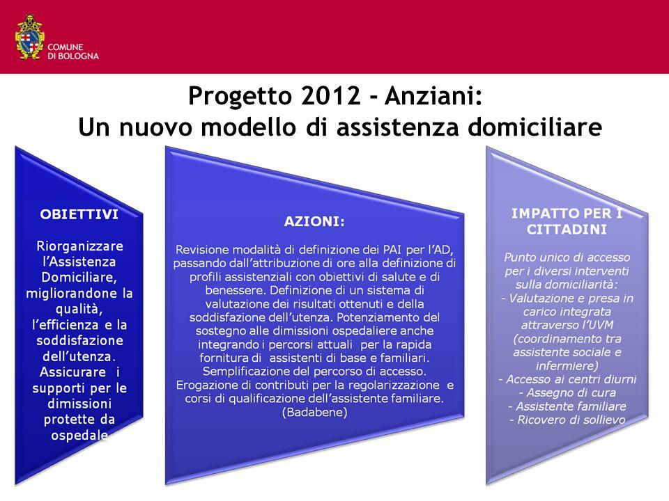 Progetto 2012 - Anziani: Un nuovo modello di assistenza domiciliare