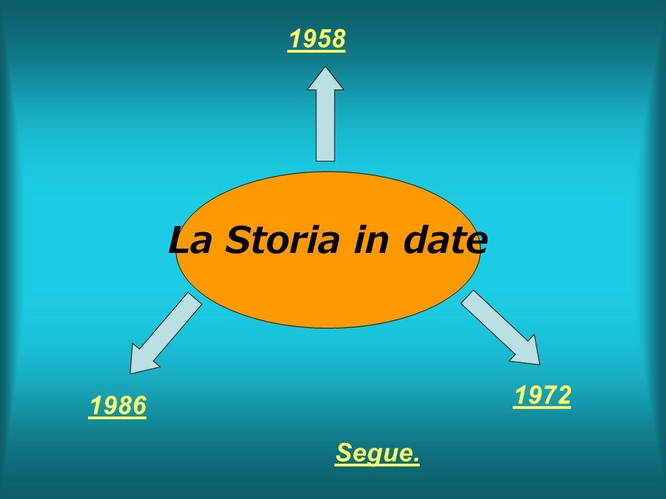 1958 La Storia in date 1972 1986 Segue.