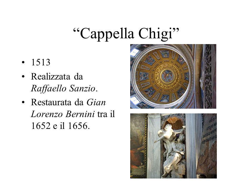 Cappella Chigi 1513 Realizzata da Raffaello Sanzio.