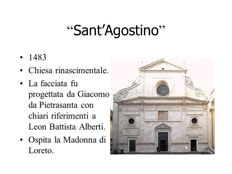 Sant'Agostino 1483 Chiesa rinascimentale.
