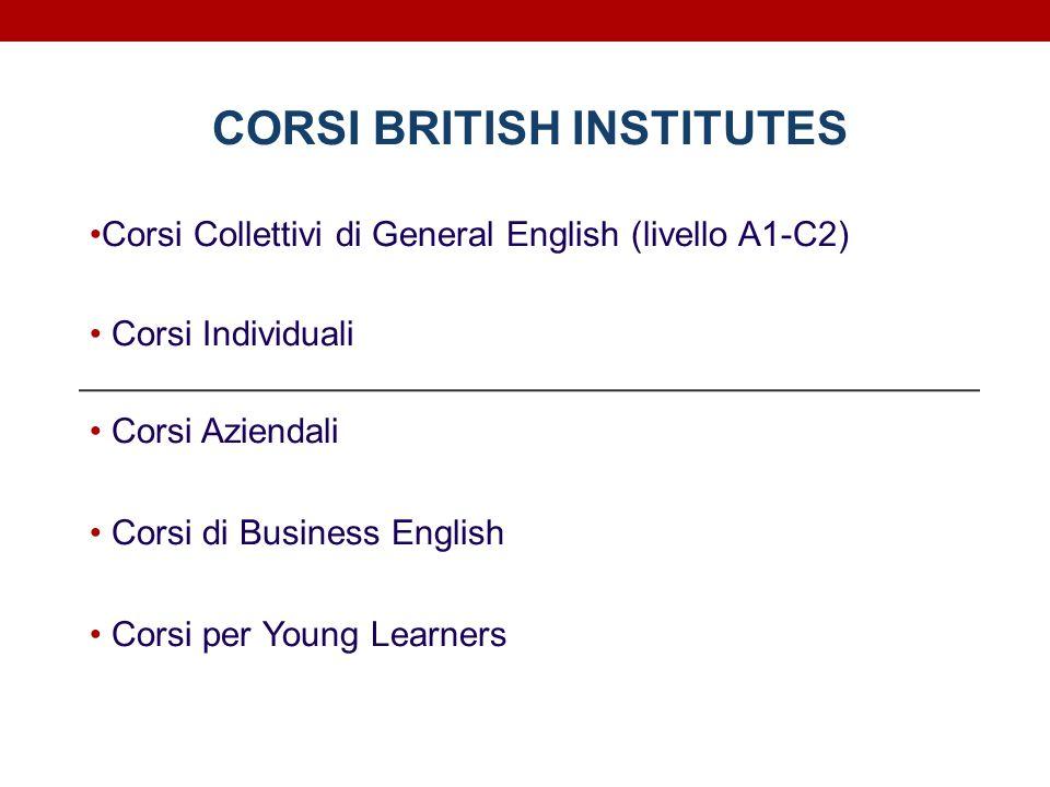 CORSI BRITISH INSTITUTES