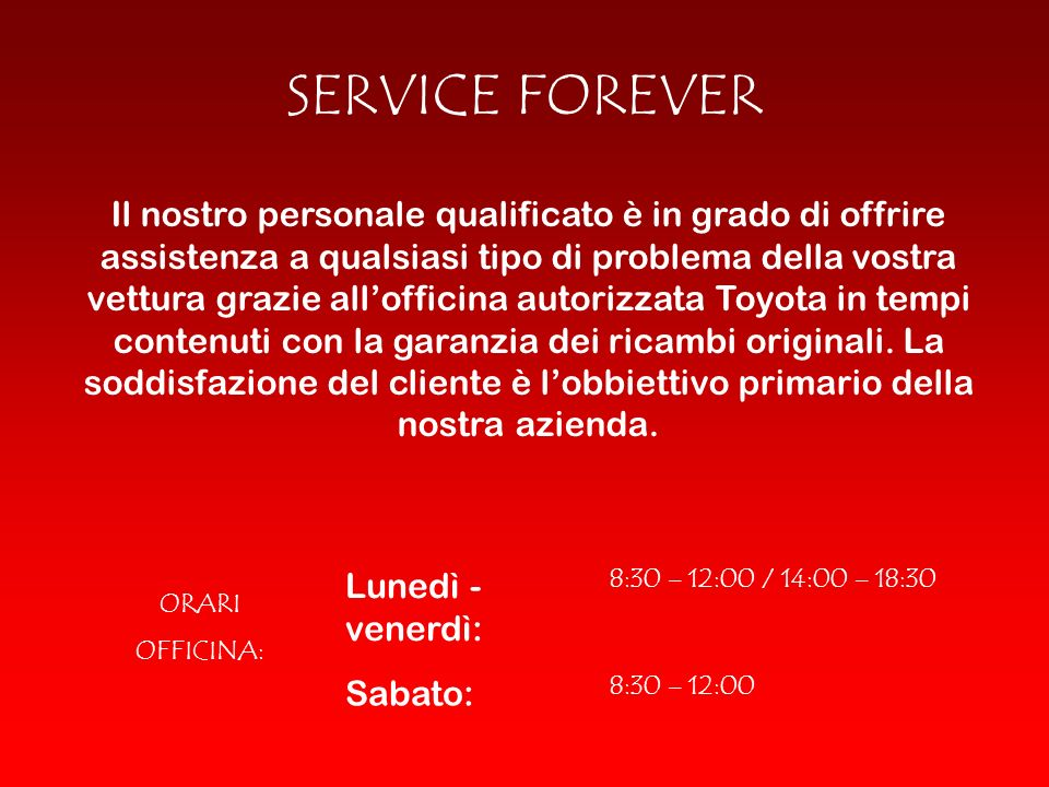 SERVICE FOREVER