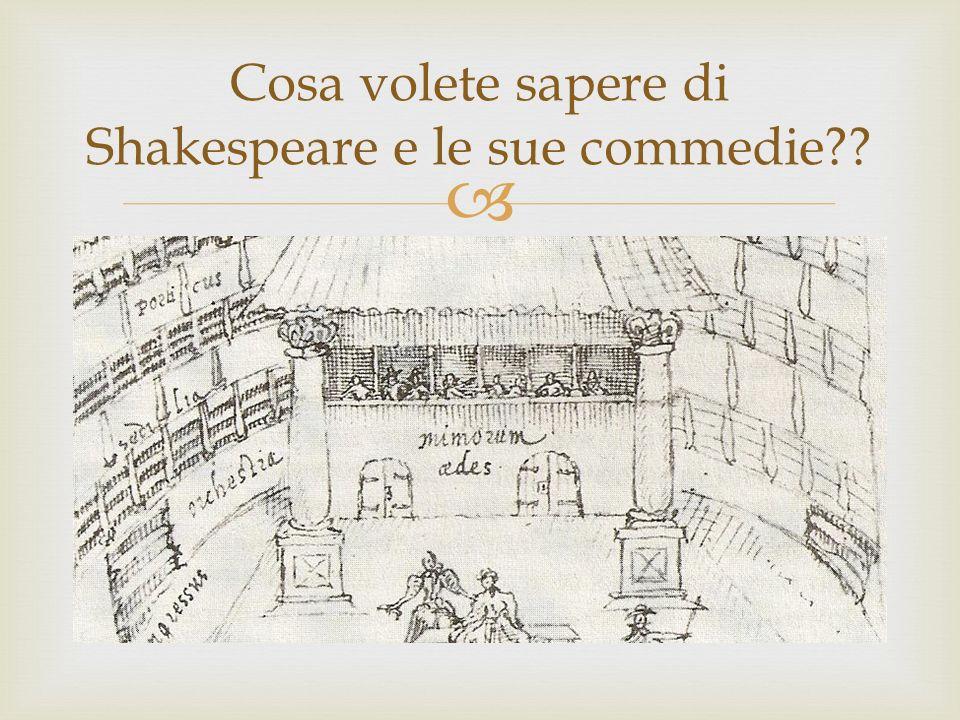 Cosa volete sapere di Shakespeare e le sue commedie
