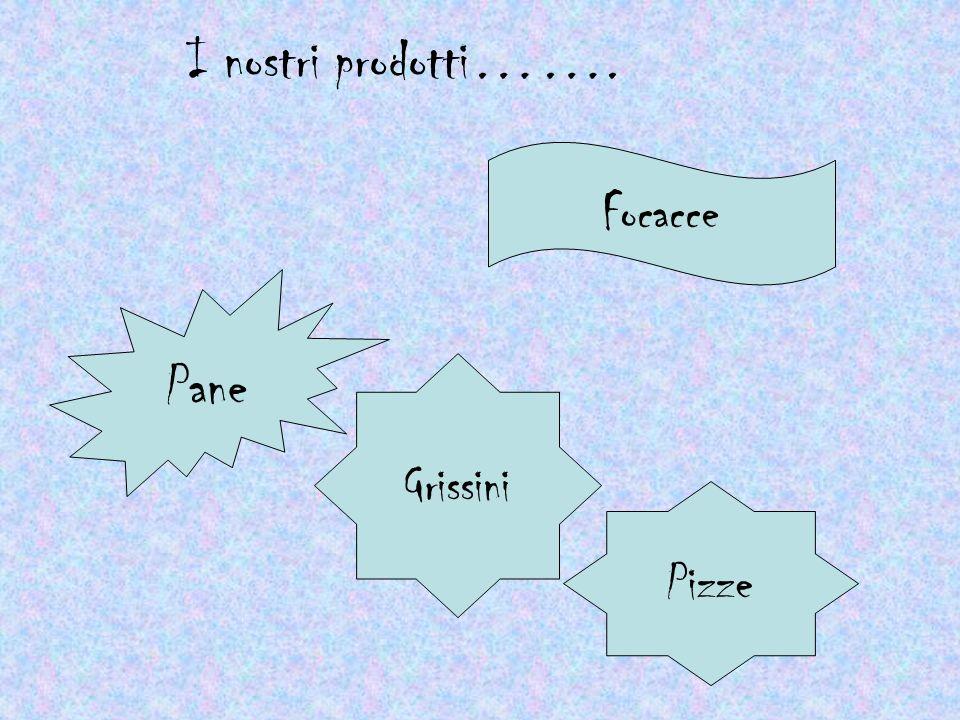 I nostri prodotti……. Focacce Pane Grissini Pizze