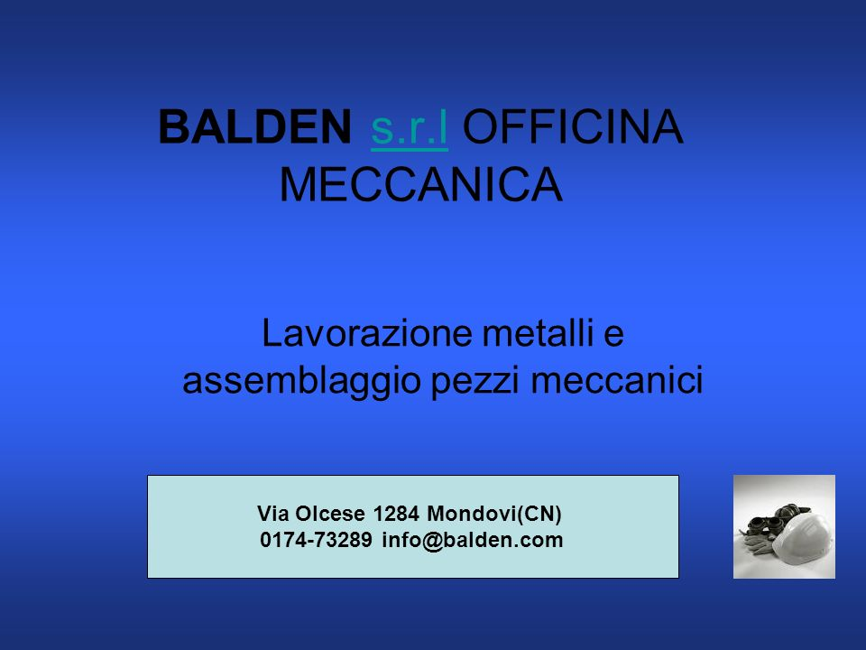 BALDEN s.r.l OFFICINA MECCANICA