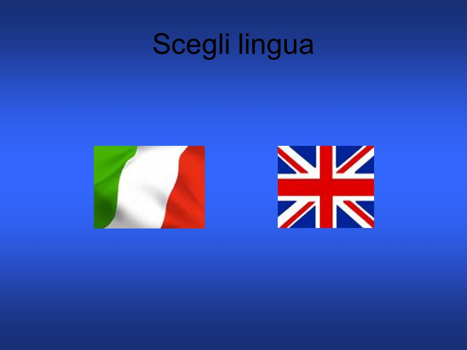 Scegli lingua