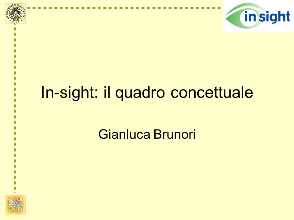 In-sight: il quadro concettuale