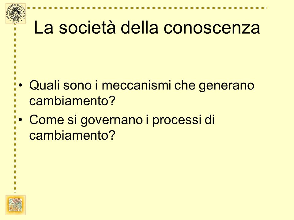 La società della conoscenza