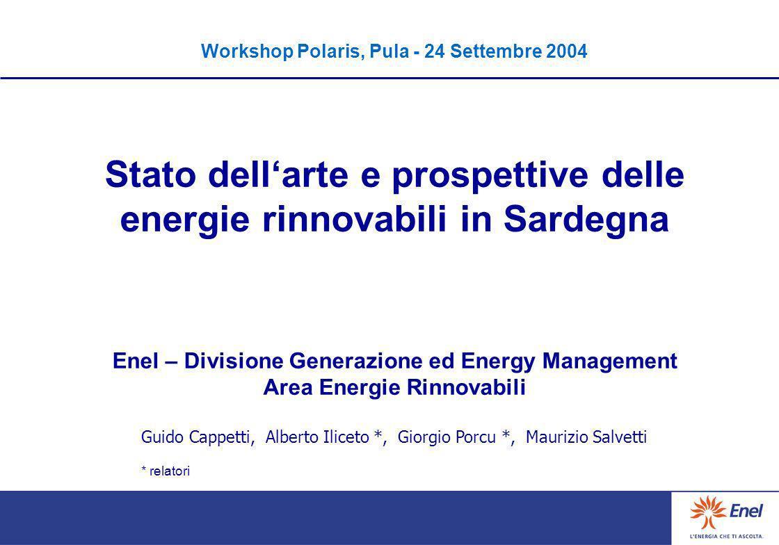 Stato dell'arte e prospettive delle energie rinnovabili in Sardegna