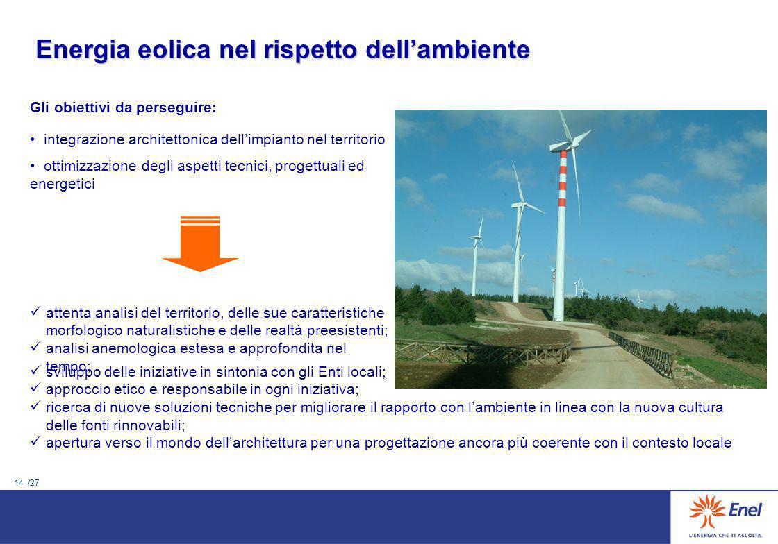 Energia eolica nel rispetto dell'ambiente