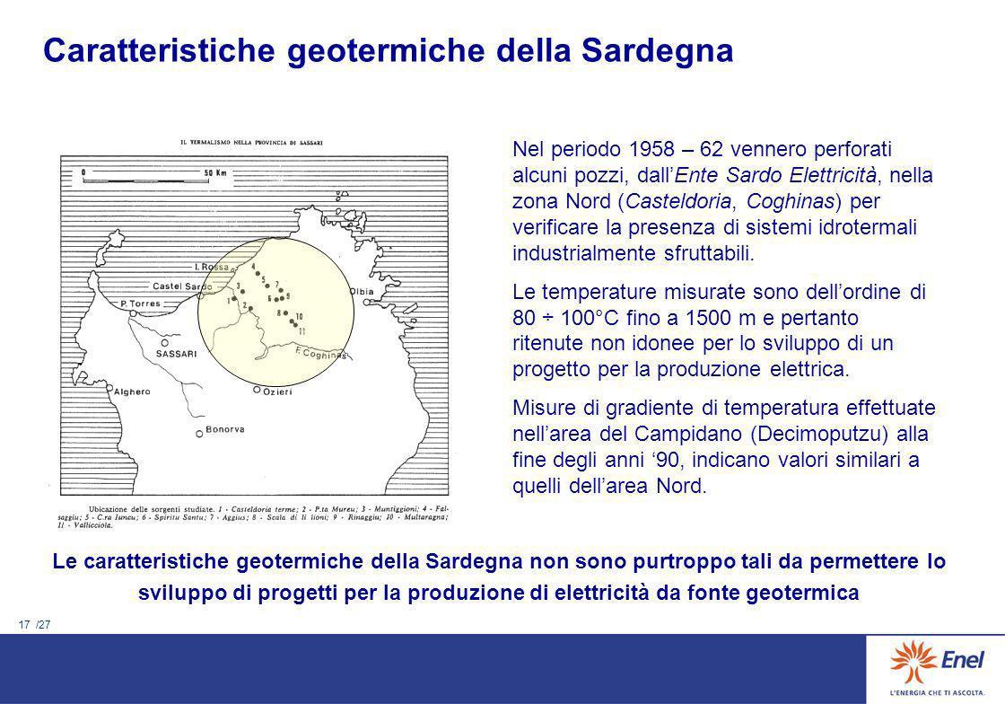 Caratteristiche geotermiche della Sardegna