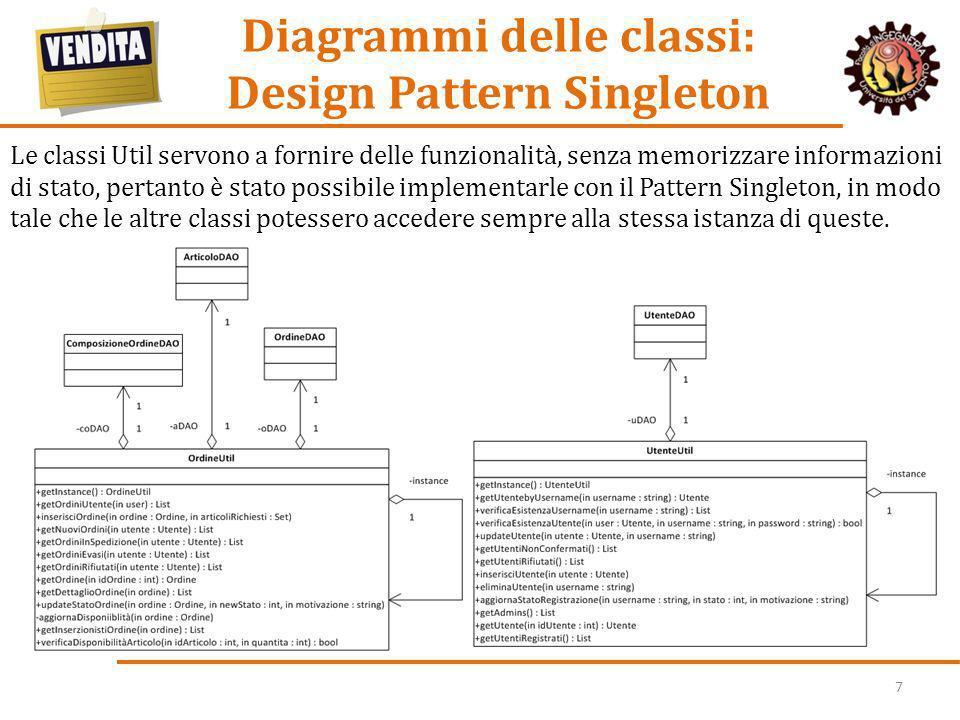 Diagrammi delle classi: Design Pattern Singleton