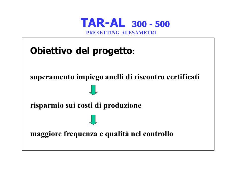 TAR-AL 300 - 500 Obiettivo del progetto: