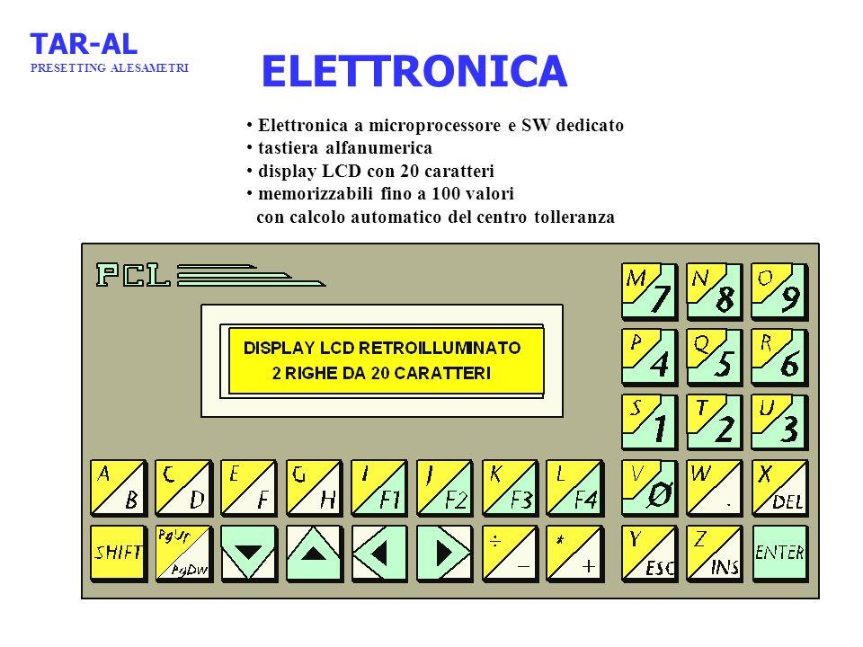 ELETTRONICA TAR-AL Elettronica a microprocessore e SW dedicato