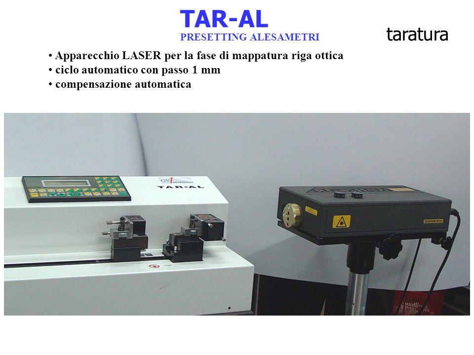 TAR-AL Apparecchio LASER per la fase di mappatura riga ottica