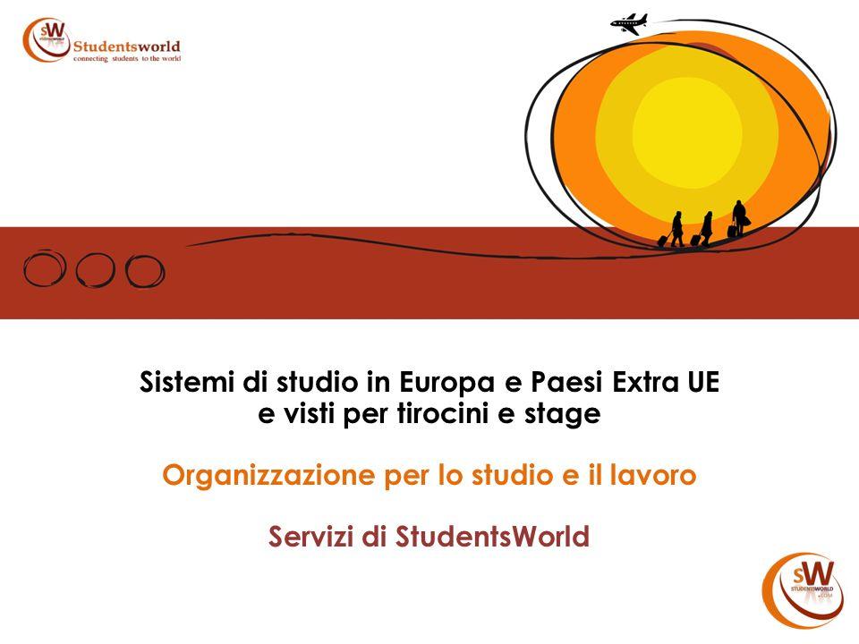 Sistemi di studio in Europa e Paesi Extra UE