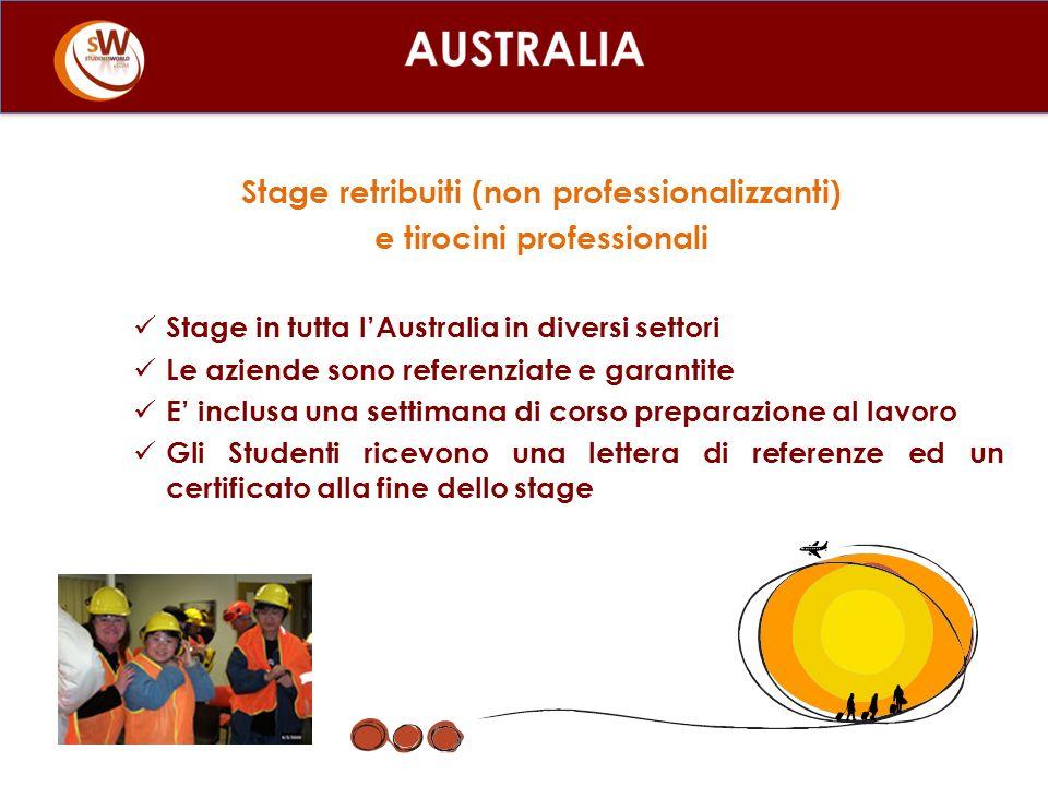 Stage retribuiti (non professionalizzanti) e tirocini professionali