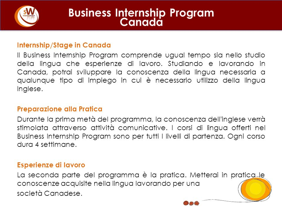 Business Internship Program