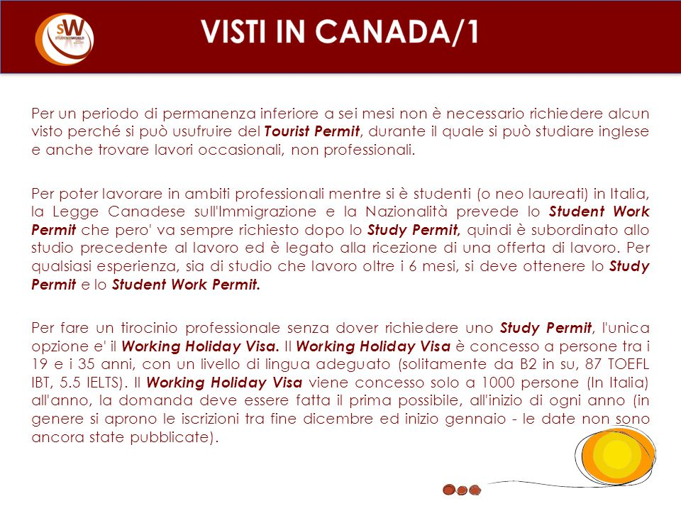 VISTI IN CANADA/1