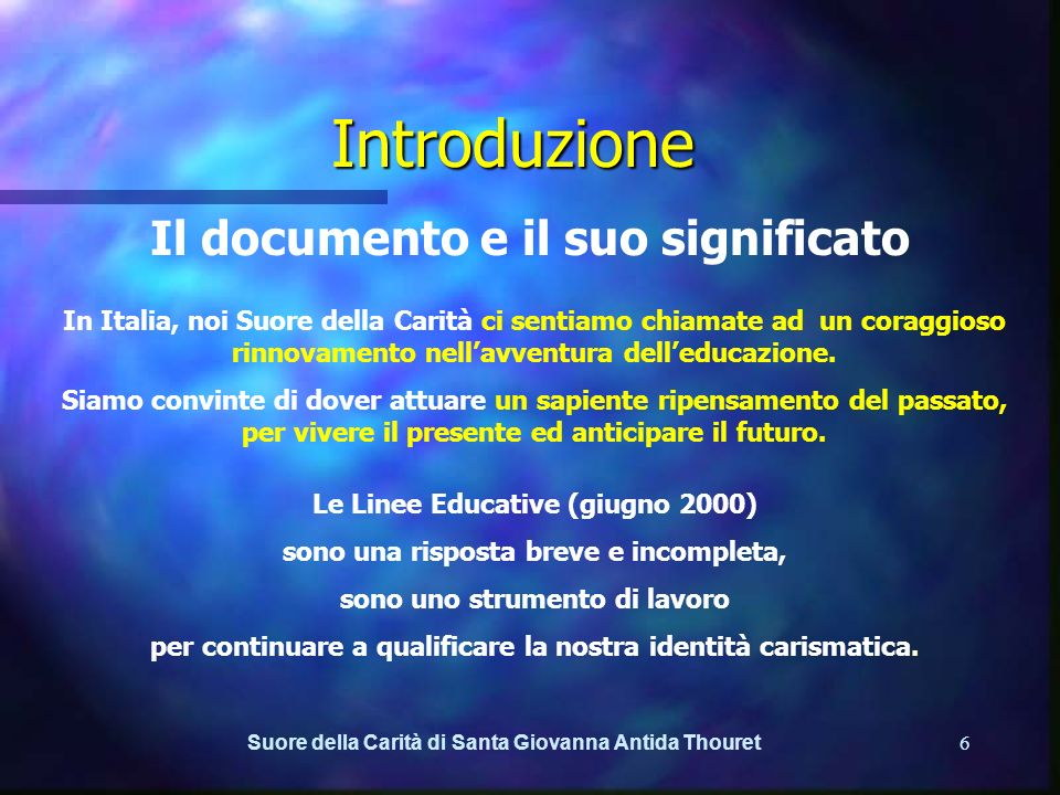 Introduzione Il documento e il suo significato