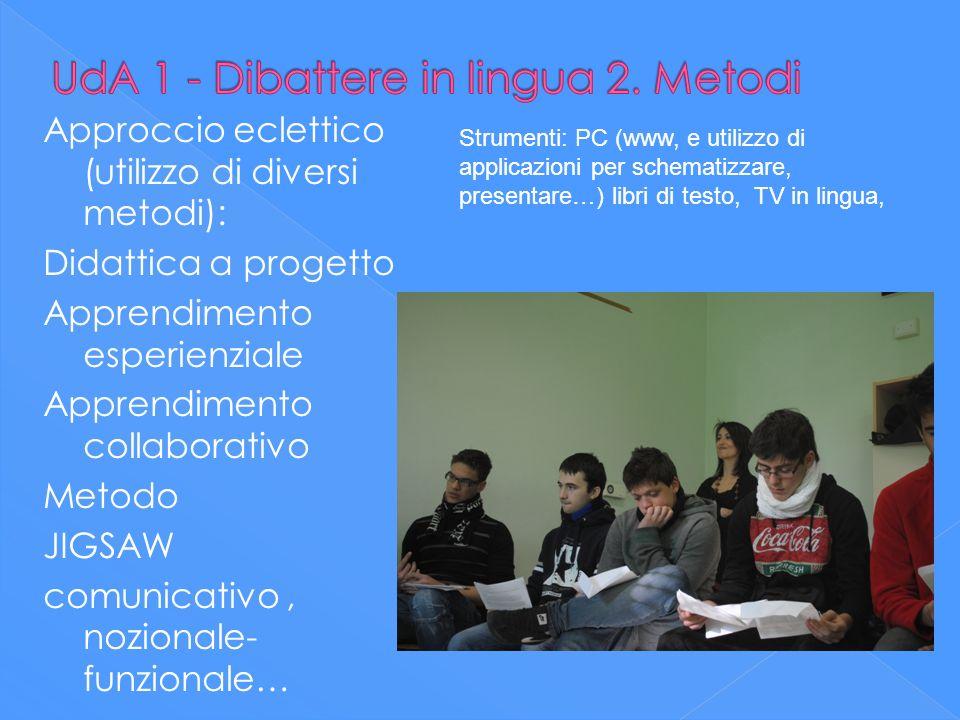 UdA 1 - Dibattere in lingua 2. Metodi