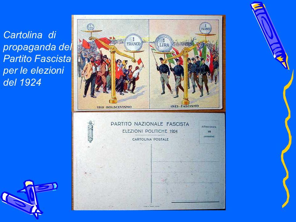 Cartolina di propaganda del Partito Fascista per le elezioni del 1924