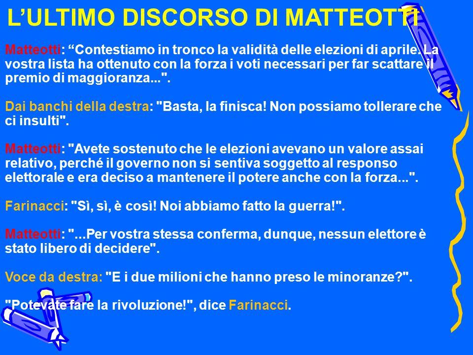 L'ULTIMO DISCORSO DI MATTEOTTI