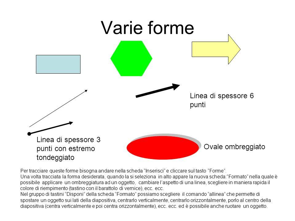 Varie forme Linea di spessore 6 punti