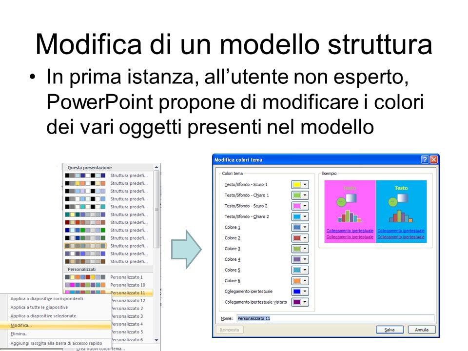 Modifica di un modello struttura