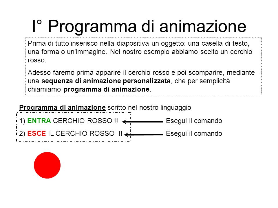 I° Programma di animazione