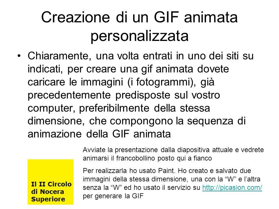 Creazione di un GIF animata personalizzata