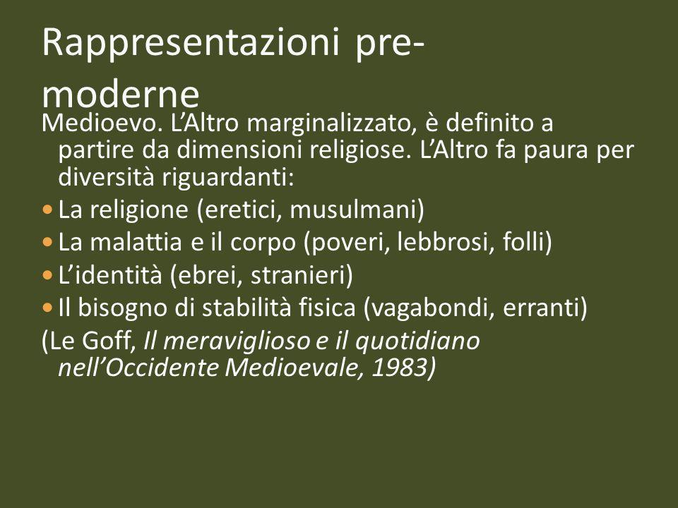Rappresentazioni pre-moderne
