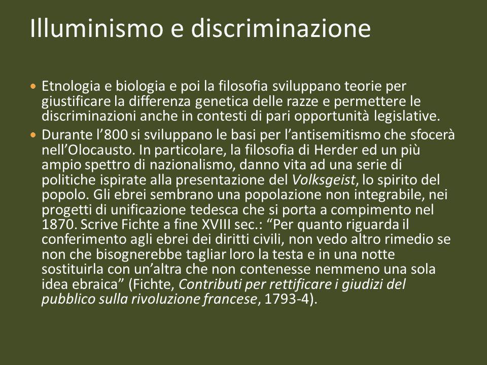 Illuminismo e discriminazione