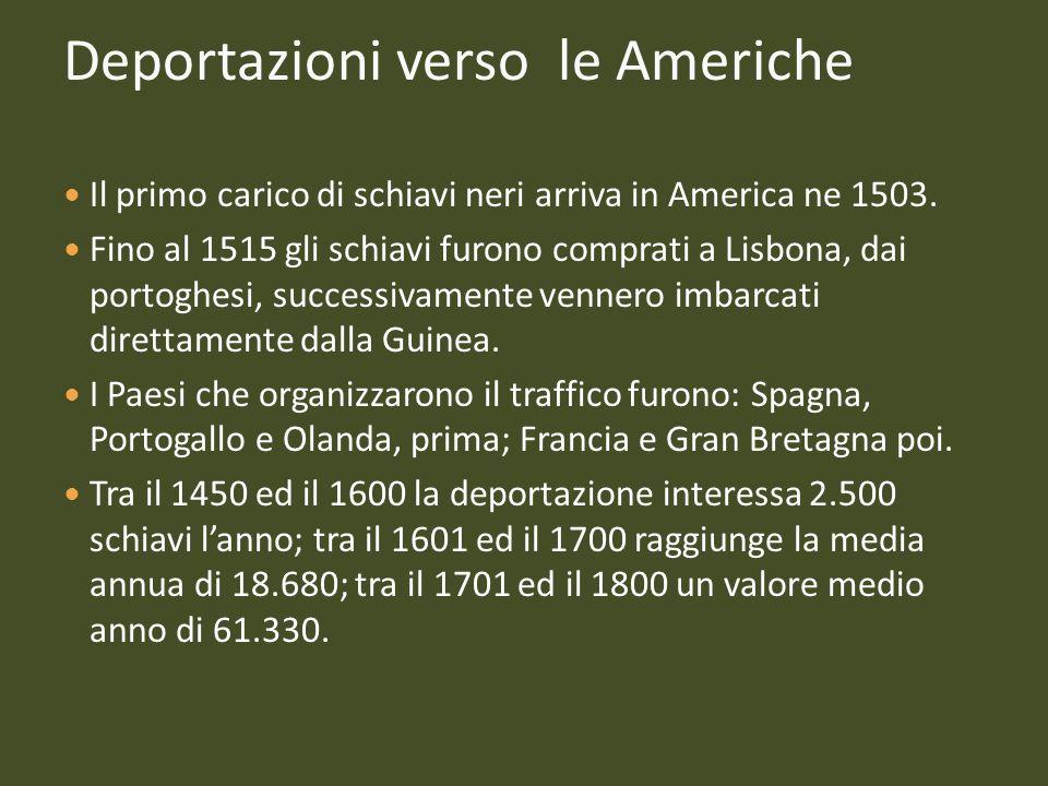 Deportazioni verso le Americhe