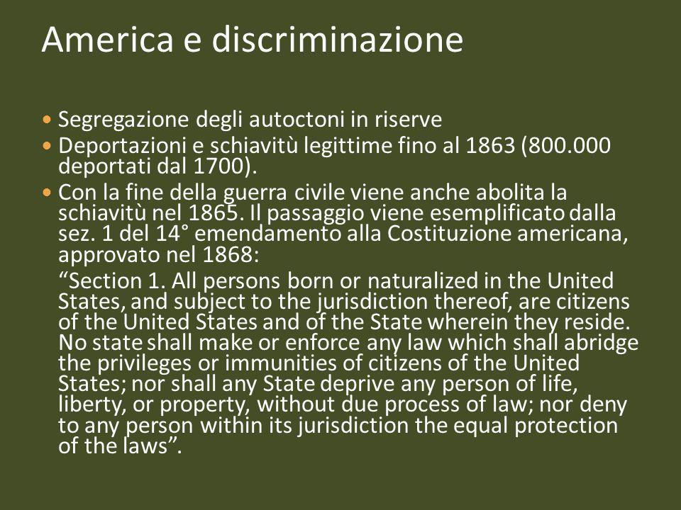 America e discriminazione