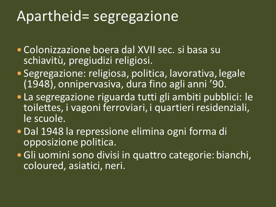 Apartheid= segregazione