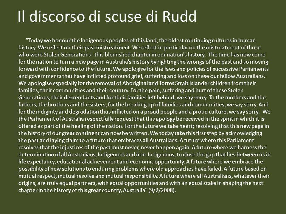 Il discorso di scuse di Rudd