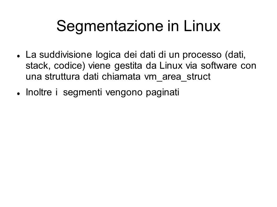 Segmentazione in Linux