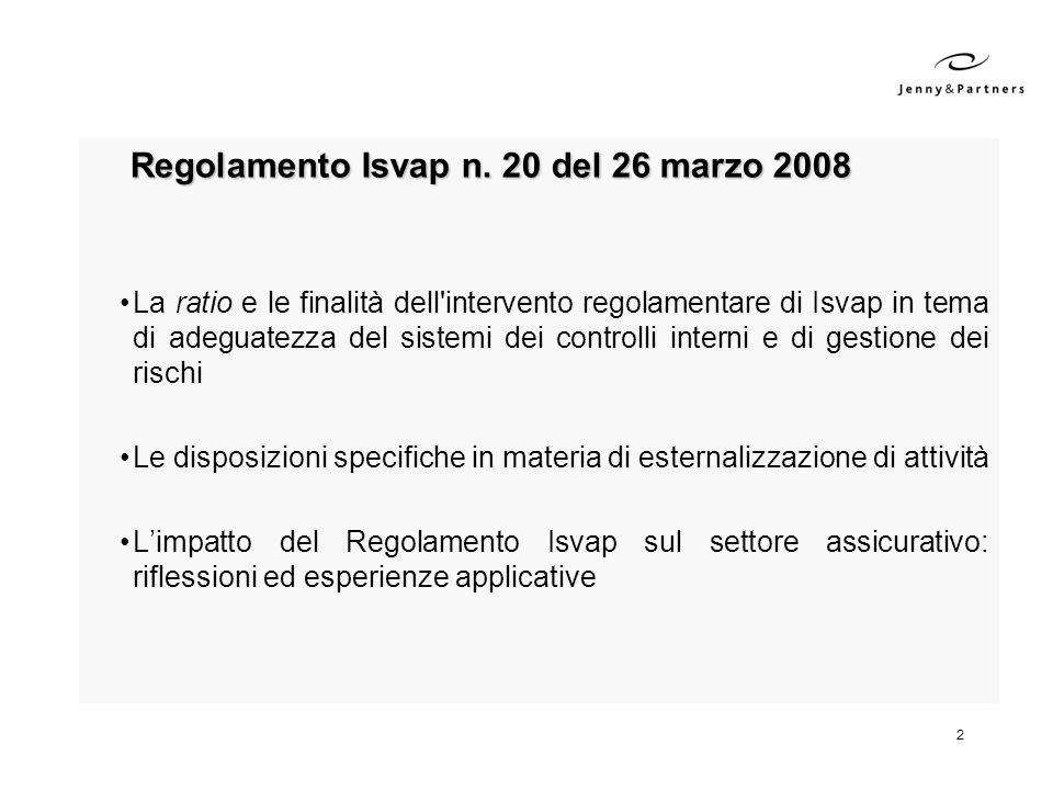 Regolamento Isvap n. 20 del 26 marzo 2008
