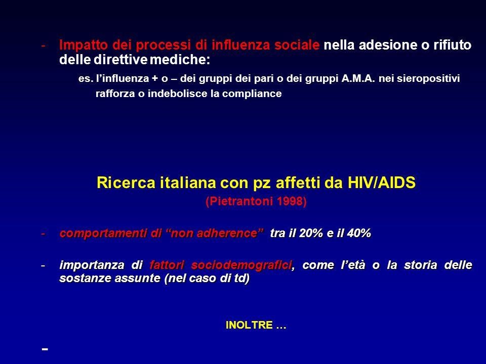 Ricerca italiana con pz affetti da HIV/AIDS
