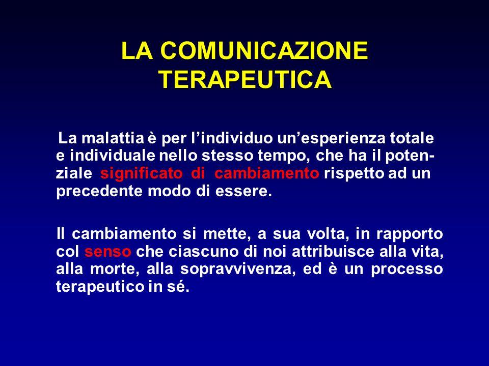 LA COMUNICAZIONE TERAPEUTICA