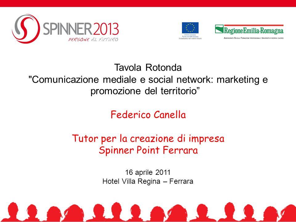 Tutor per la creazione di impresa Spinner Point Ferrara